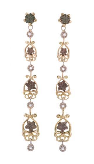 Anna Avakian star stones and diamonds earrings