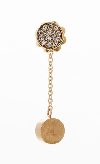 Nanis yellow gold earrings with diamonds