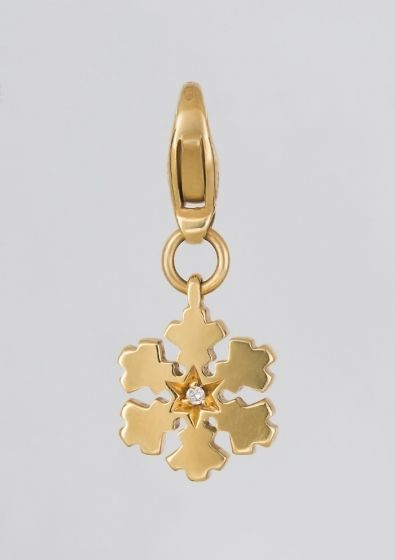 Salvini gold snowflake pendant/charm