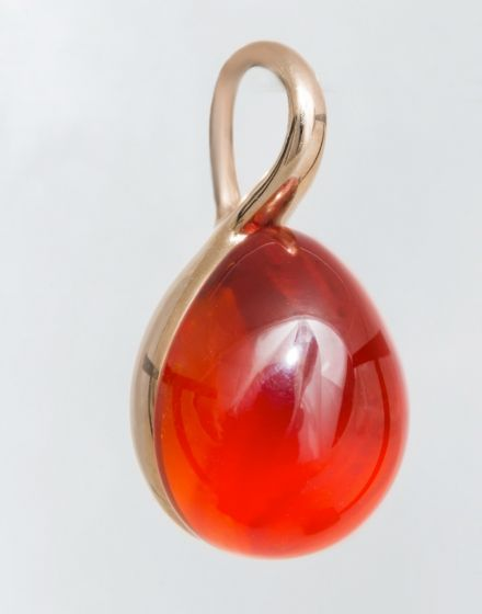 Pomellato pink gold pendant with hydrothermal ruby