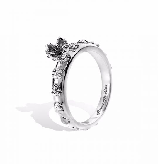 Anna Avakian white gold engagement ring
