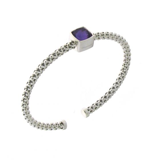 Chimento 18K Bracelet in white gold with amethyst