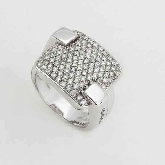 Salvini white gold ring with white diamonds