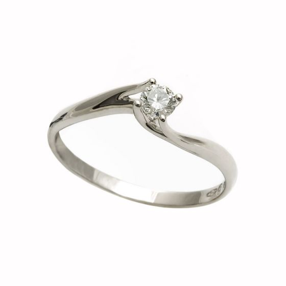 Bliss white gold engagement ring with diamond