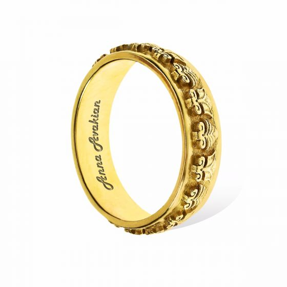 Anna Avakian yellow gold wedding band