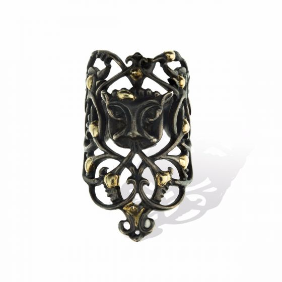 Anna Avakian yellow gold and silver ring