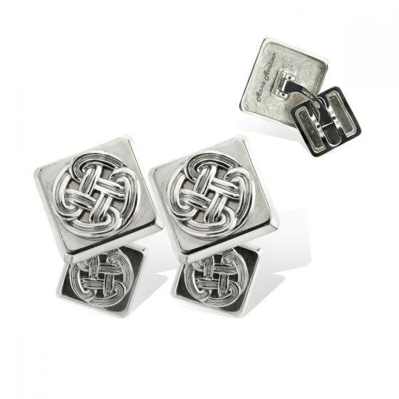 Anna Avakian white gold square cufflinks