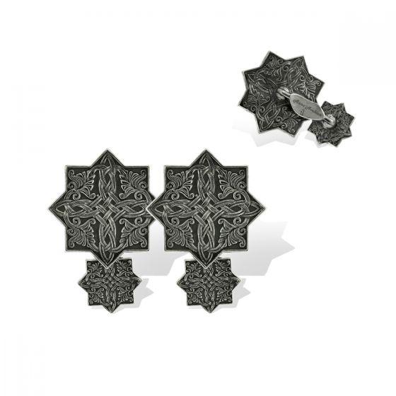 Anna Avakian black gold cufflinks
