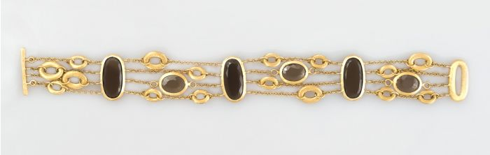 Nanis gold bracelet with smoky topaz