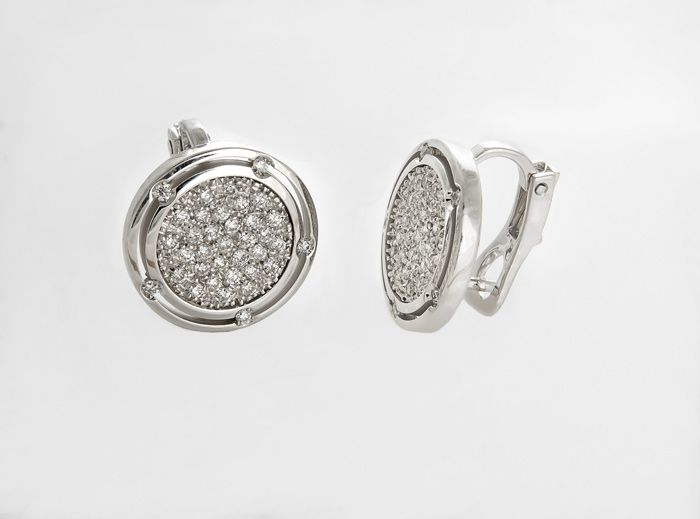 Damiani White Gold Earrings With Diamonds