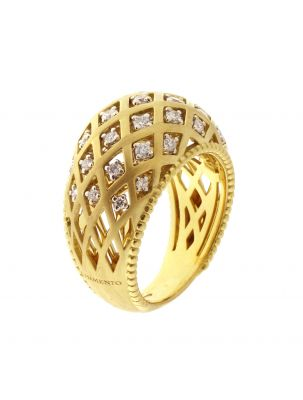 Chimento 18K Ring in white and yellow gold with diamonds