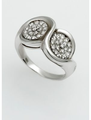 Chimento white gold ring with white diamonds