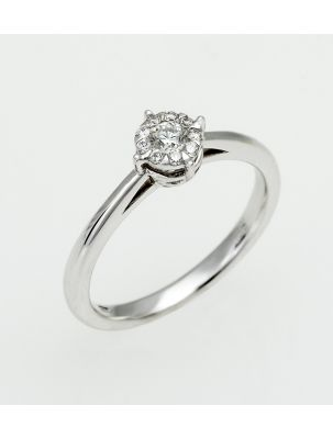 Chimento white gold engagement ring with diamond