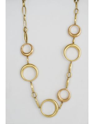 Chimento pink and yellow gold necklace with circles