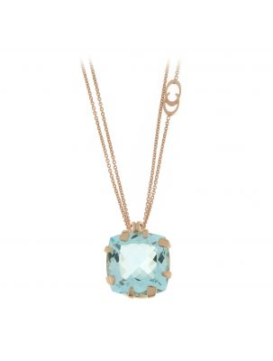 Chimento 18K Necklace in pink gold with topaz