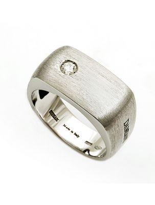 Damiani white gold ring with diamond