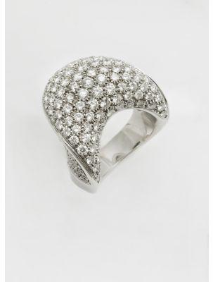 Damiani white gold ring with diamonds Squalo