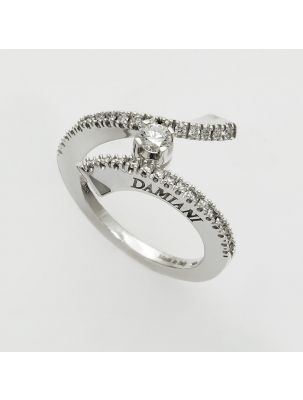 Damiani white gold ring with diamonds