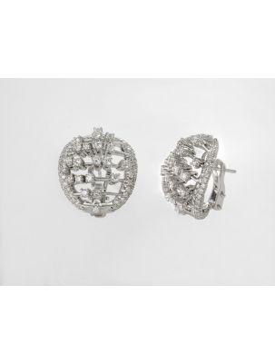 Damiani white gold earrings with white diamonds