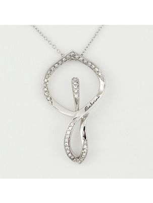 Salvini white gold chain and pendant with diamonds