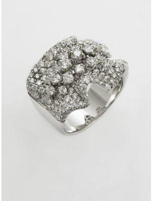 Damiani white gold ring with diamonds Aurora
