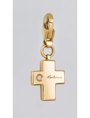 Salvini gold cross pendant/charm