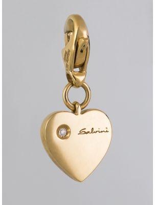 Salvini white gold pendant/charm with diamond