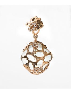 Alfieri & St.John yellow gold earrings with citrine and diamonds