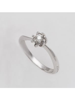 Alfieri & St.John white gold engagement ring with diamonds