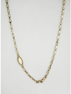 Chimento yellow gold necklace with white diamond