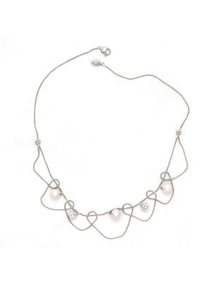 Damiani necklace with pearls and white diamonds