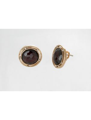 Damiani pink gold earrings with garnet and diamonds