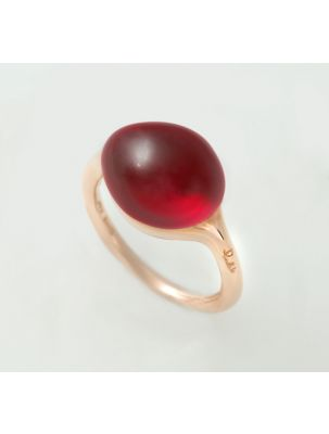 Pomellato pink gold ring with hydrothermal sapphire
