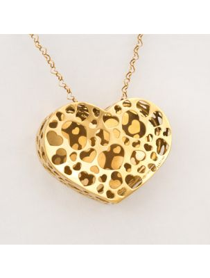 Nanis yellow gold chain and pendant