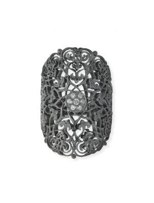 Anna Avakian black gold ring