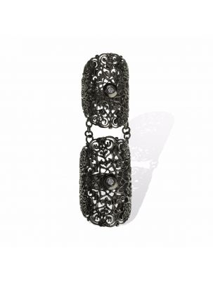 Anna Avakian black gold double ring