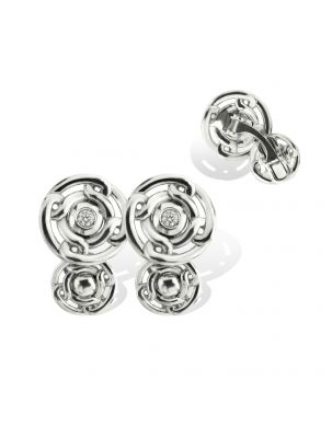 Anna Avakian white gold cufflinks with diamonds