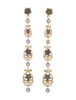 Anna Avakian star stones and diamonds earrings