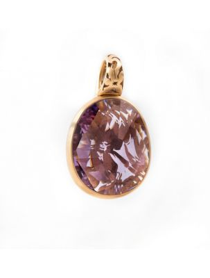 Pomellato pink gold pendant with amethyst