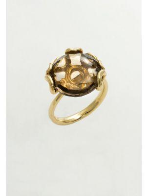 Calgaro ring with smoky topaz
