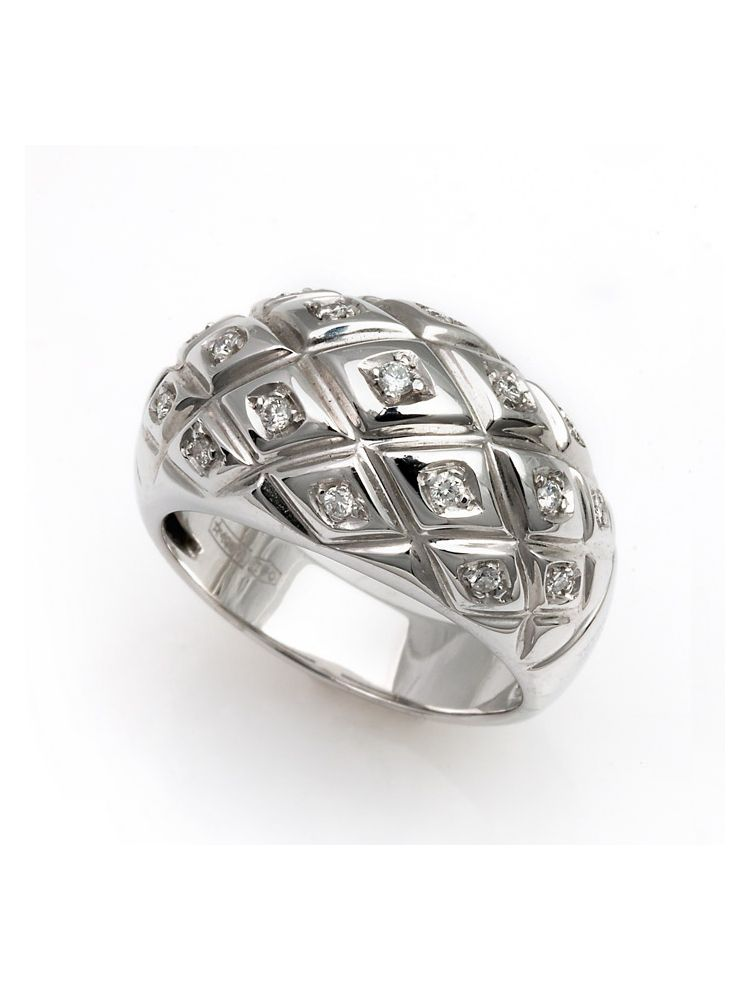 Chimento white gold ring with diamonds