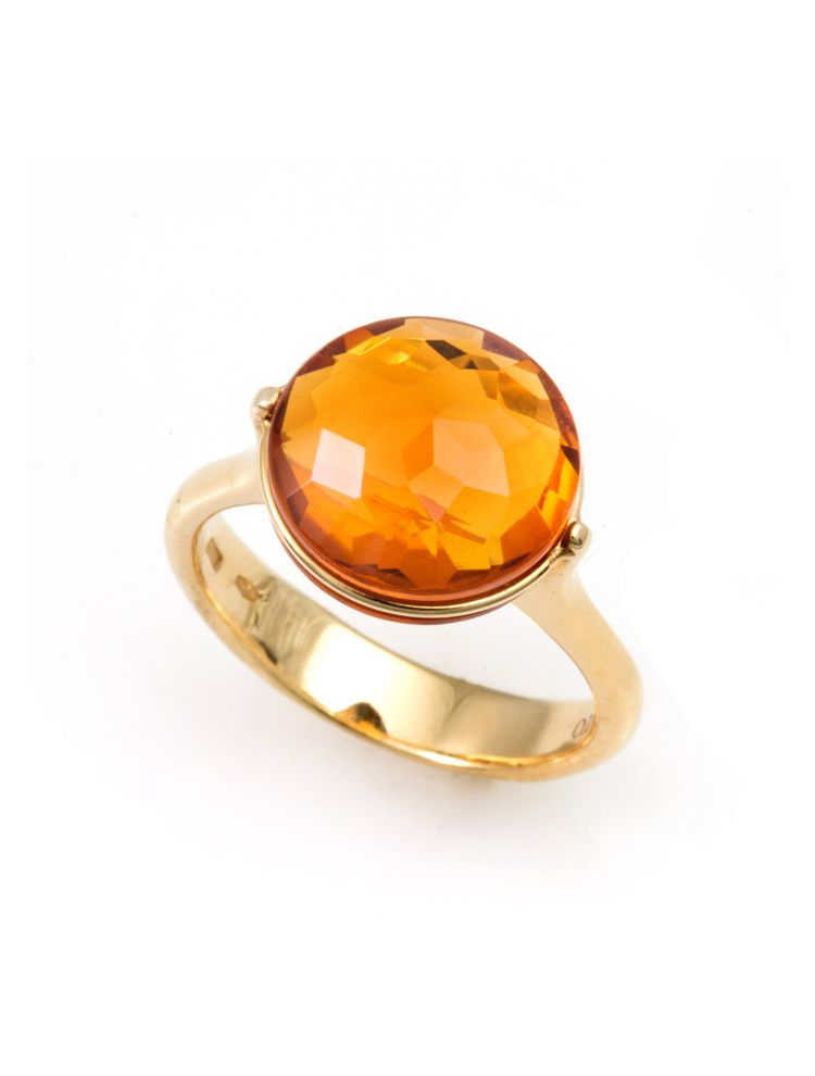 Chimento yellow gold ring with citrine