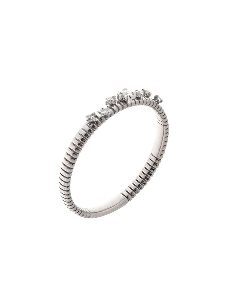 Chimento 18K Ring in white gold with diamonds