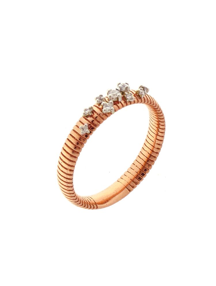 Chimento 18K Ring in white and pink gold with diamonds