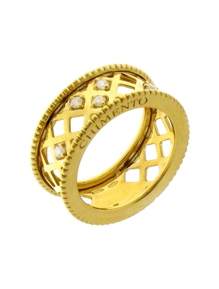 Chimento 18K Ring in yellow gold with diamonds