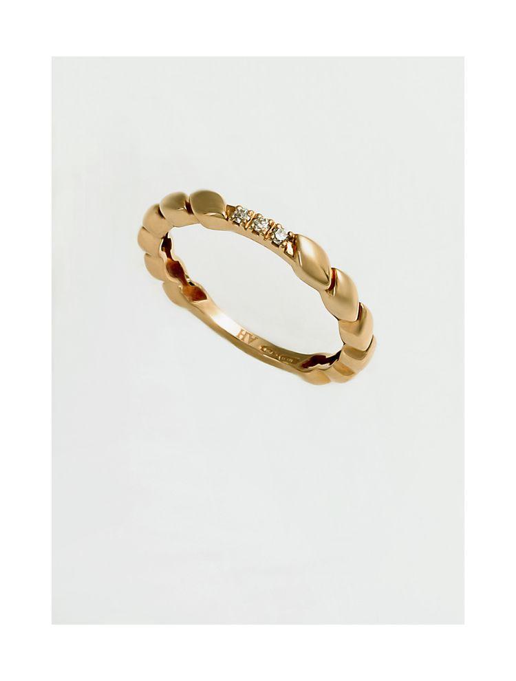 Chimento yellow gold wedding band with diamonds