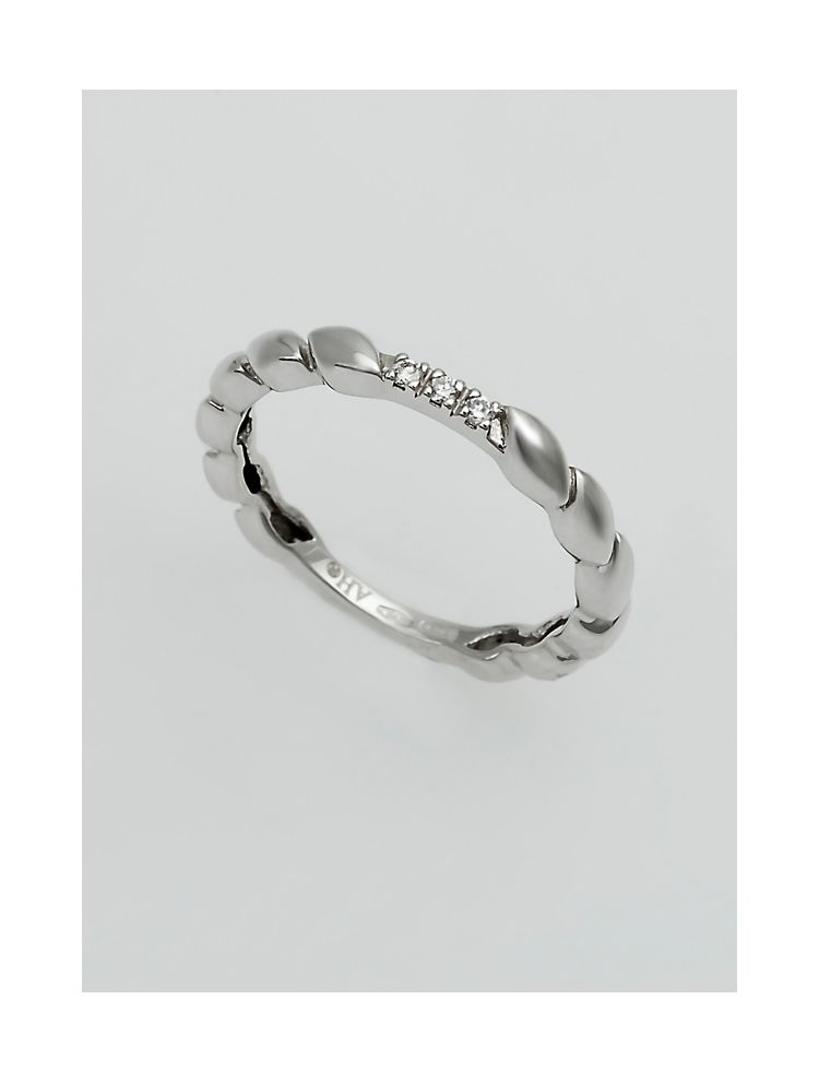 Chimento white gold wedding band with diamonds