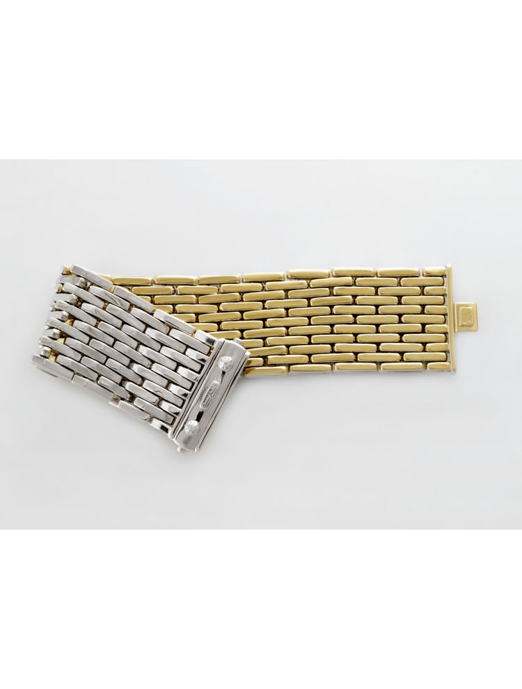 Chimento white and yellow gold bracelet with diamonds