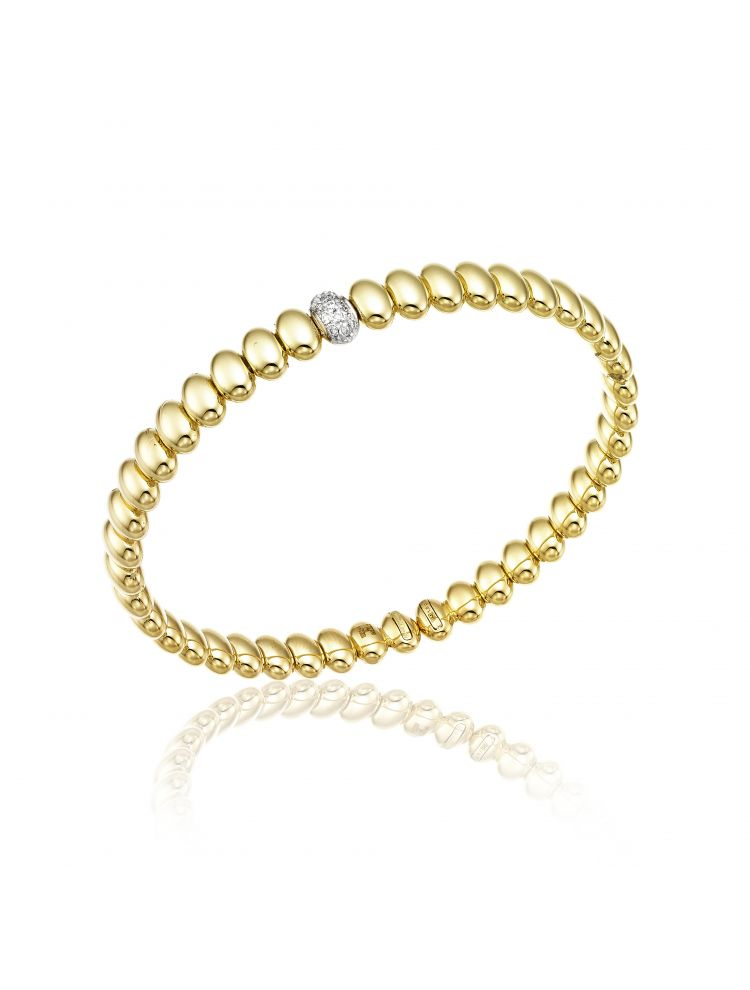Chimento 18K Bracelet in white and yellow gold with diamonds