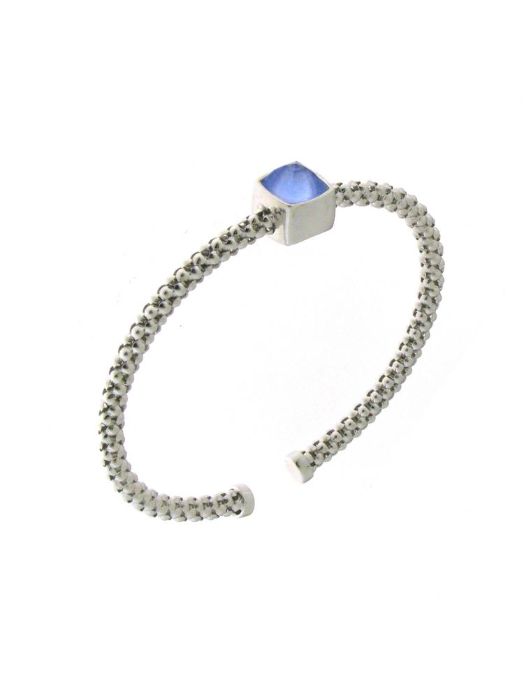 Chimento 18K Bracelet in white gold with topaz